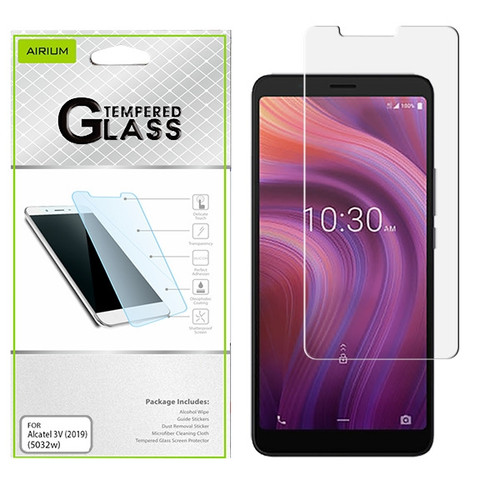 Airium Tempered Glass Screen Protector (2.5D) for Alcatel 5032w (3v 2019) - Clear