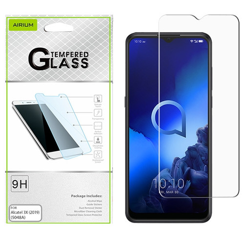 Airium Tempered Glass Screen Protector (2.5D) for Alcatel 5048A (3x 2019) - Clear