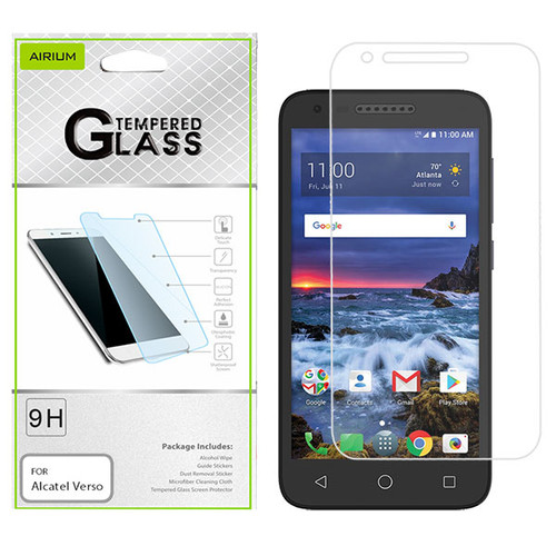 Airium Tempered Glass Screen Protector (2.5D) for Alcatel Verso/5044 (Cameo X) / U50 (Ideal Xcite) - Clear