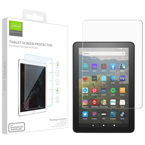 Airium Tempered Glass Screen Protector for Amazon Fire HD 8 (2020)/Fire HD 8 Plus (2020) / Fire HD 8 Plus (2020) - Clear