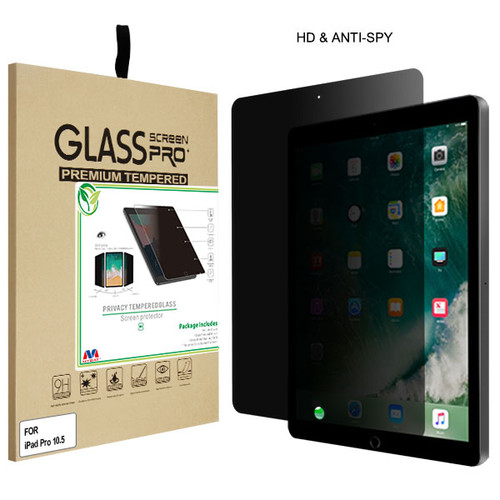 MyBat Privacy Tempered Glass Screen Protector (2.5D) for Apple iPad Pro 10.5 (A1701,A1709,A1852) / iPad Air 10.5 (2019) - Transparent Smoke