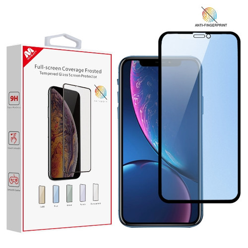 MyBat Full-screen Coverage Frosted Tempered Glass Screen Protector for Apple iPhone 11 / XR - Blue