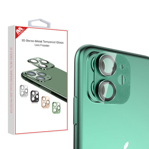 MyBat 3D Stereo Metal Tempered Glass Lens Protector for Apple iPhone 11 - Green
