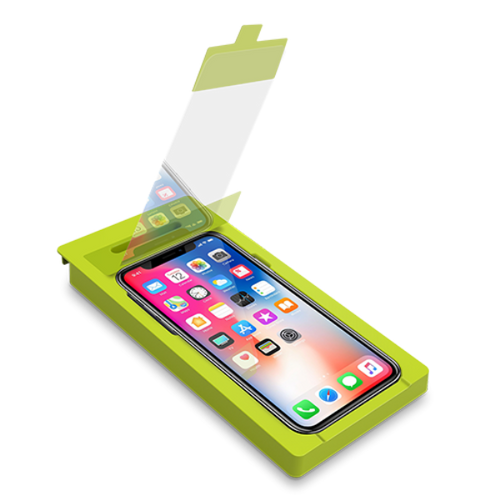PureGear Tempered Glass w/ Self Aligning Tray for Apple iPhone X / XS / iPhone 11 Pro - High Definition Clarity Clear