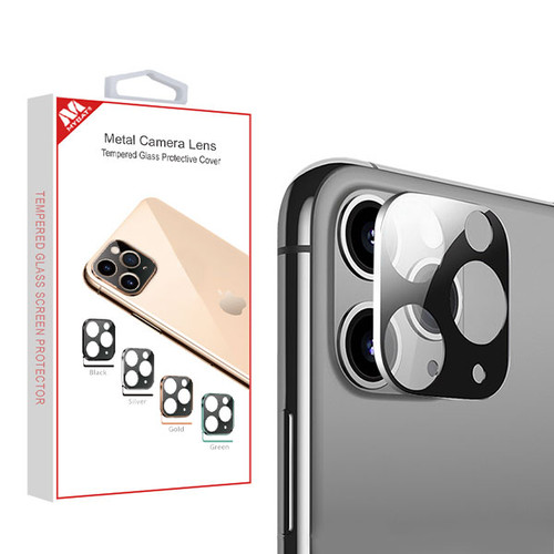 MyBat Metal Camera Lens Tempered Glass Protective Cover for Apple iPhone 11 Pro Max / 11 Pro - Silver
