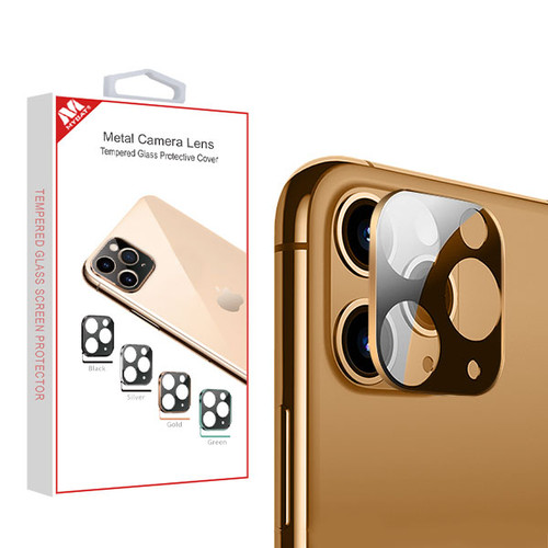 MyBat Metal Camera Lens Tempered Glass Protective Cover for Apple iPhone 11 Pro Max / 11 Pro - Gold