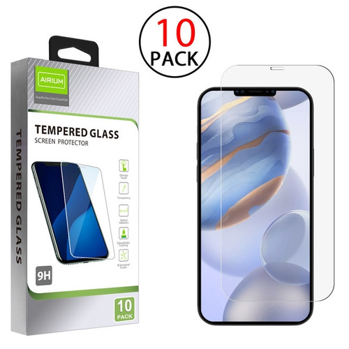 Airium Tempered Glass Screen Protector (2.5D)(10-pack) for Apple iPhone 12 (6.1) / 12 Pro (6.1) - Clear