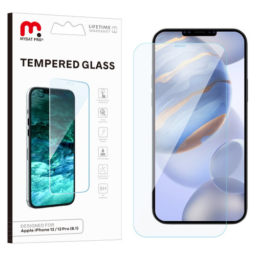 MyBat Pro Tempered Glass Screen Protector (2.5D) for Apple iPhone 12 (6.1) / 12 Pro (6.1) - Clear