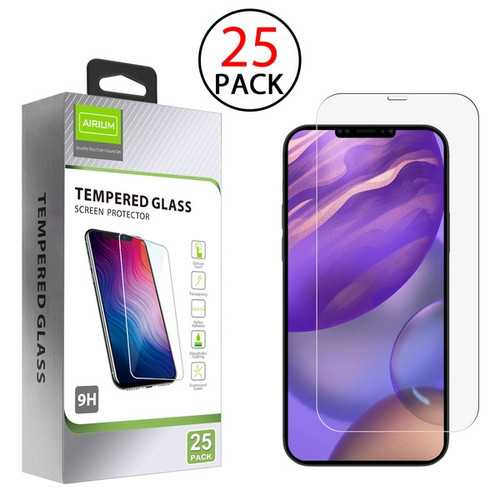 Airium Tempered Glass Screen Protector (2.5D)(25-pack) for Apple iPhone 12 mini (5.4) - Clear