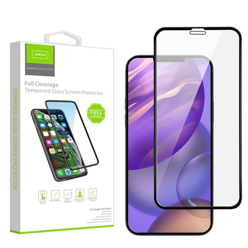 Airium Full Coverage Tempered Glass Screen Protector for Apple iPhone 12 mini (5.4) - Black