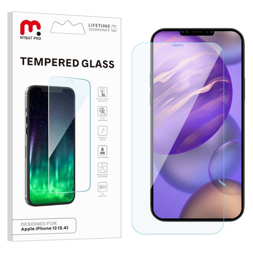 MyBat Pro Tempered Glass Screen Protector (2.5D) for Apple iPhone 12 mini (5.4) - Clear