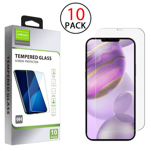 Airium Tempered Glass Screen Protector (2.5D)(10-pack) for Apple iPhone 12 Pro Max (6.7) - Clear