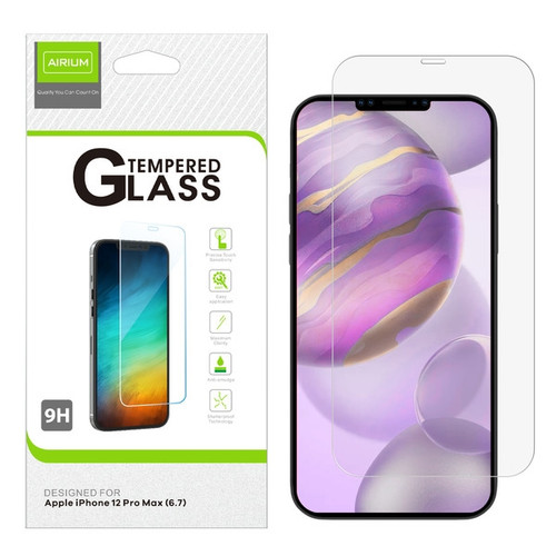 Airium Tempered Glass Screen Protector (2.5D) for APPLE iPhone 12 Pro Max (6.7) - Clear for Apple iPhone 12 Pro Max (6.7) - Clear