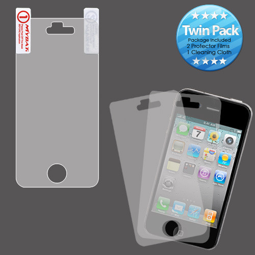MyBat Screen Protector Twin Pack for Apple iPhone 4s/4 - Clear