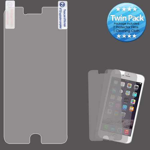 Asmyna Screen Protector Twin Pack for Apple iPhone 6s Plus/6 Plus - Clear