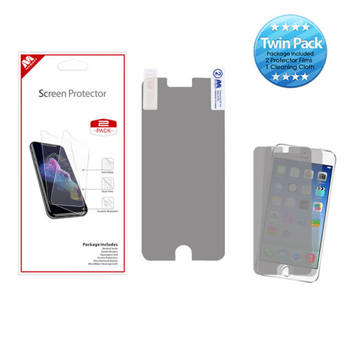 MyBat Screen Protector Twin Pack for Apple iPhone 6s/6/iPhone SE (2020) / 8/7 - Clear