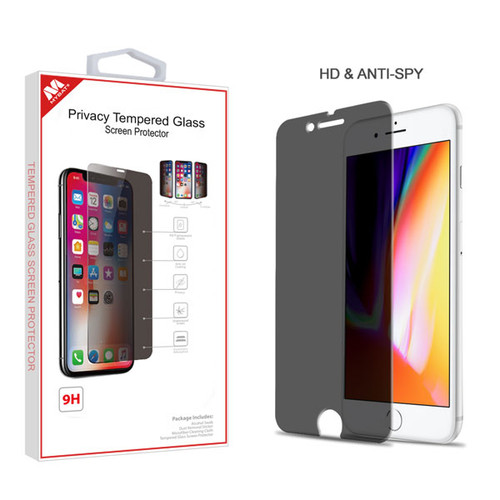 MyBat Privacy Tempered Glass Screen Protector (2.5D) for Apple iPhone 8 Plus/7 Plus - Transparent Smoke