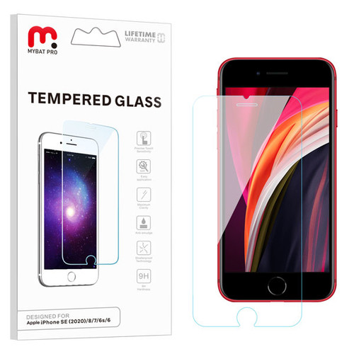 MyBat Pro Tempered Glass Screen Protector (2.5D) for Apple iPhone SE (2020)/iPhone 8/7 / 6s/6 - Clear