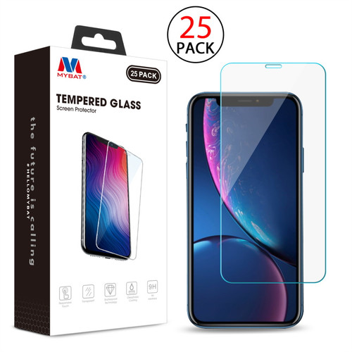 MyBat Tempered Glass Screen Protector (2.5D)(25-pack) for Apple iPhone XR / 11 - Clear