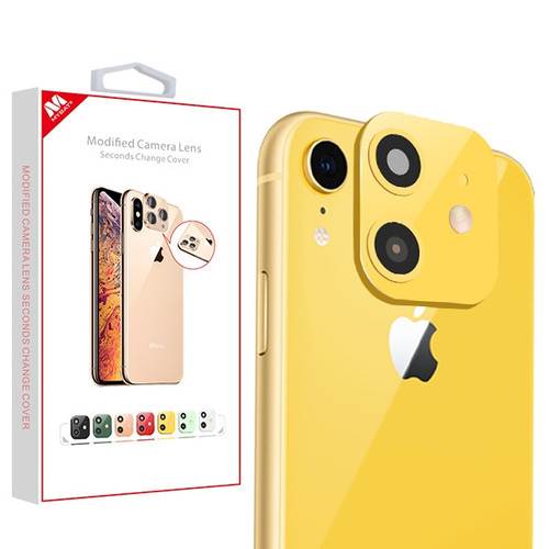 MyBat Modified Camera Lens Seconds Change Cover for Apple iPhone XR - Yellow