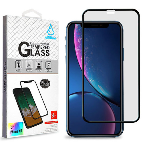 Airium Full Coverage Tempered Glass Screen Protector for Apple iPhone XR / 11 - Black