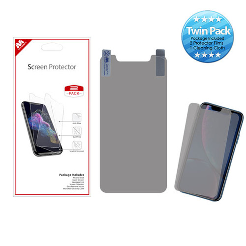 MyBat Screen Protector Twin Pack for Apple iPhone XR / 11 - Clear