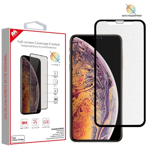 MyBat Full-screen Coverage Frosted Tempered Glass Screen Protector for Apple iPhone XS Max / 11 Pro Max - Black