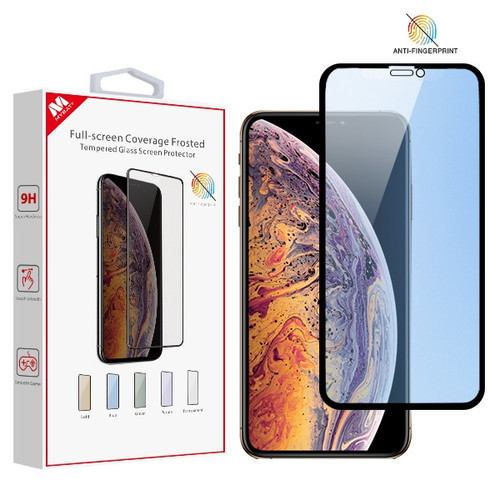 MyBat Full-screen Coverage Frosted Tempered Glass Screen Protector for Apple iPhone XS Max / 11 Pro Max - Blue