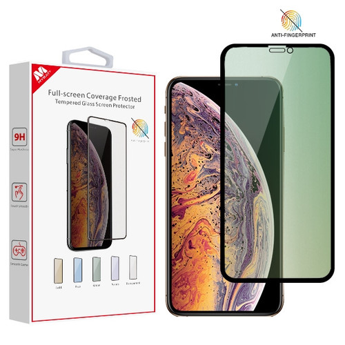 MyBat Full-screen Coverage Frosted Tempered Glass Screen Protector for Apple iPhone XS Max / 11 Pro Max - Green