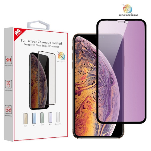 MyBat Full-screen Coverage Frosted Tempered Glass Screen Protector for Apple iPhone XS Max / 11 Pro Max - Purple