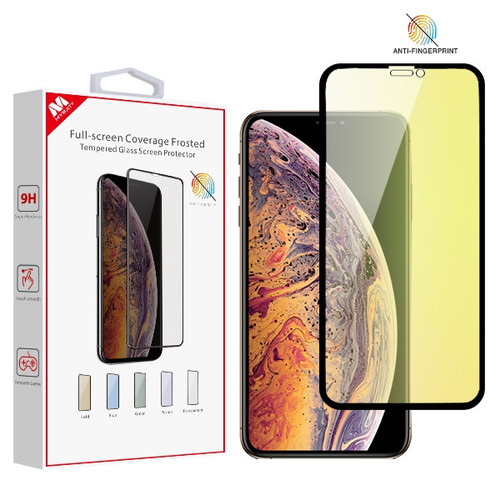 MyBat Full-screen Coverage Frosted Tempered Glass Screen Protector for Apple iPhone XS Max / 11 Pro Max - Gold