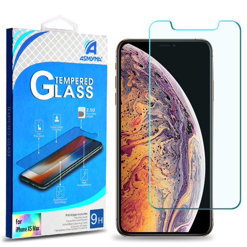 Asmyna Tempered Glass Screen Protector (2.5D) for Apple iPhone XS Max / 11 Pro Max - Clear
