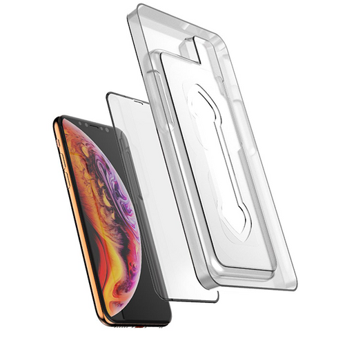 Ballistic Full Edge to Edge Tempered Glass w/ Installation Tray for Apple iPhone X / XS - Clear
