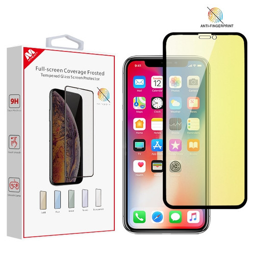 MyBat Full-screen Coverage Frosted Tempered Glass Screen Protector for Apple iPhone XS/X / 11 Pro - Gold