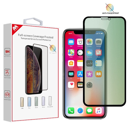 MyBat Full-screen Coverage Frosted Tempered Glass Screen Protector for Apple iPhone XS/X / 11 Pro - Green