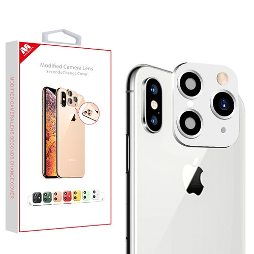 MyBat Modified Camera Lens Seconds Change Cover for Apple iPhone XS/X / XS Max - Silver