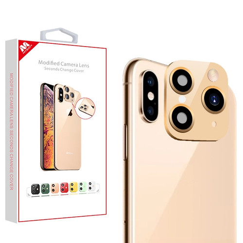 MyBat Modified Camera Lens Seconds Change Cover for Apple iPhone XS/X / XS Max - Gold