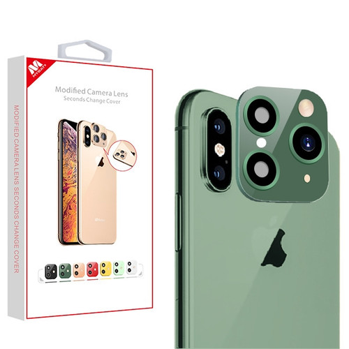 MyBat Modified Camera Lens Seconds Change Cover for Apple iPhone XS/X / XS Max - Midnight Green