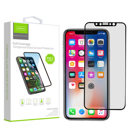 Airium Full Coverage Tempered Glass Screen Protector for Apple iPhone XS/X / 11 Pro - Black