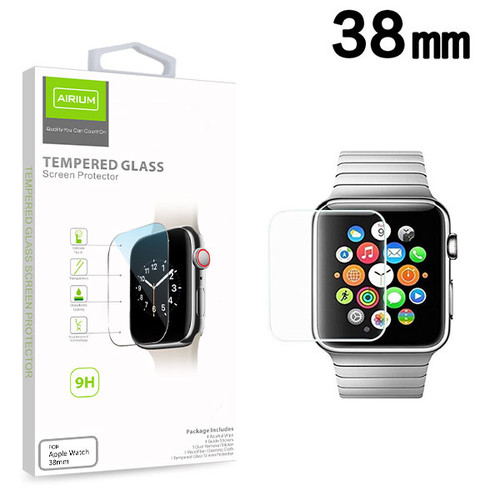 Airium Tempered Glass Screen Protector (2.5D) for Apple watch 38mm/Watch Series 3 38mm / Watch Series 2 38mm - Clear