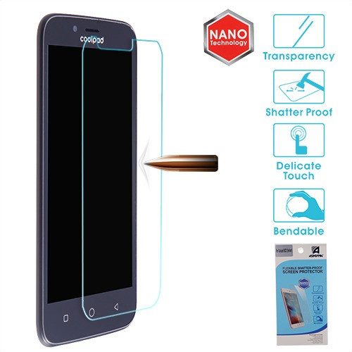 Asmyna Flexible Shatter-Proof Screen Protector for Coolpad 3632 (Defiant) - Clear