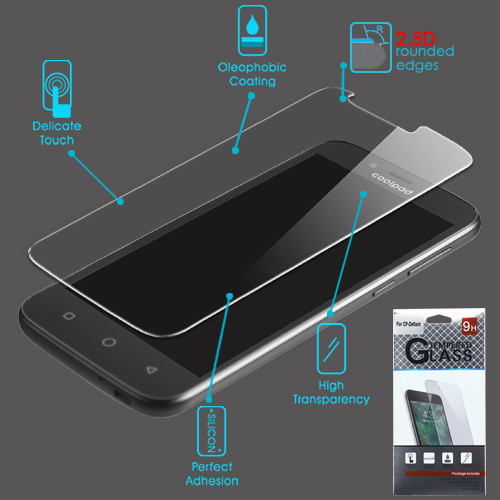 Airium Tempered Glass Screen Protector (2.5D) for Coolpad 3632 (Defiant) - Clear