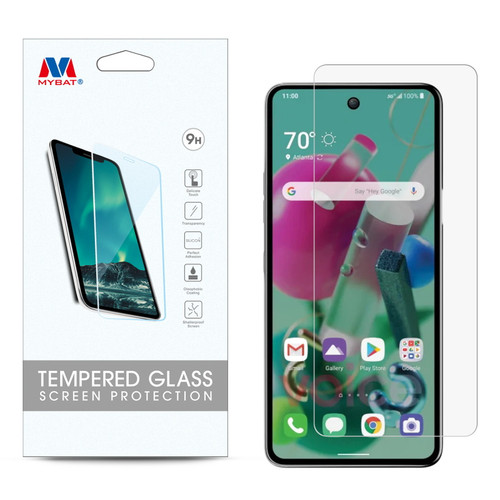 MyBat Tempered Glass Screen Protector (2.5D) for Cricket Grand LG K92 5G - Clear