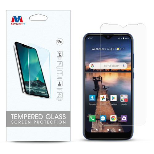 MyBat Tempered Glass Screen Protector (2.5D) for Cricket Influence At&t Maestro Plus - Clear