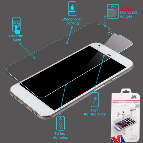 MyBat Tempered Glass Screen Protector (2.5D) for Google Pixel (5.0) - Clear