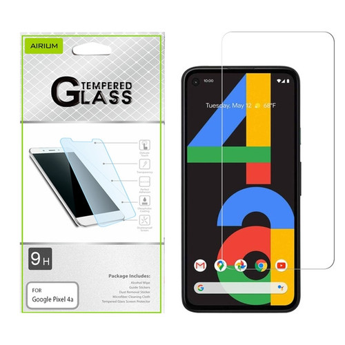 Airium Tempered Glass Screen Protector (2.5D) for GOOGLE Pixel 4a - Clear for Google Pixel 4a - Clear