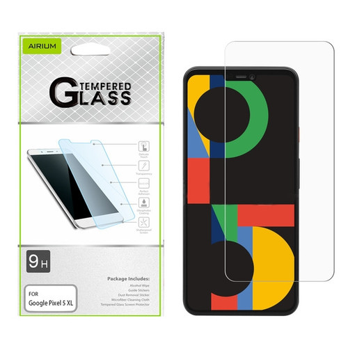 Airium Tempered Glass Screen Protector (2.5D) for GOOGLE Pixel 5 XL - Clear for Google Pixel 5 XL / Pixel 4a 5G - Clear