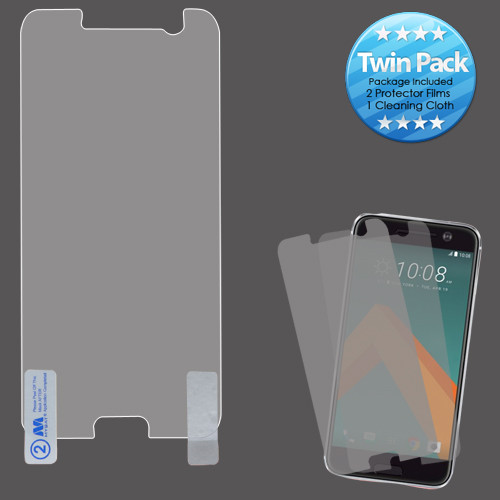 MyBat Screen Protector Twin Pack (Strong Adhesion & Ultra-thin) for Htc 10 - Clear