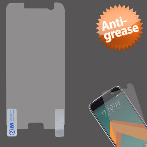 MyBat Anti-grease LCD Screen Protector (Strong Adhesion & Ultra-thin) for Htc 10 - Clear