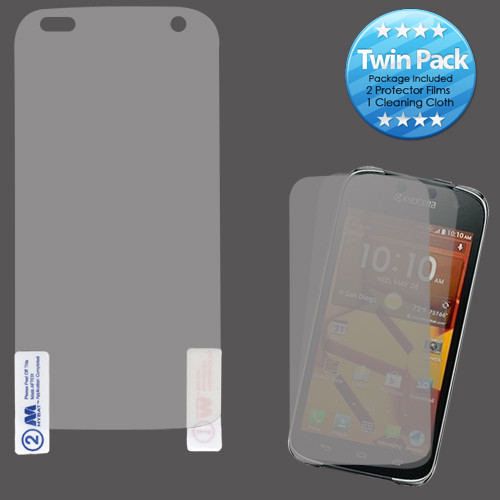 MyBat Screen Protector Twin Pack for Kyocera C6730 (Hydro Icon) / C6530 (Hydro Life) - Clear